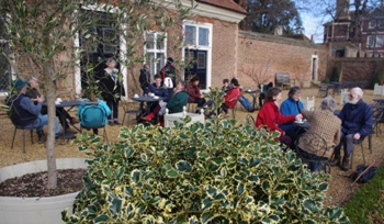 Holly and ramblers at Ham House